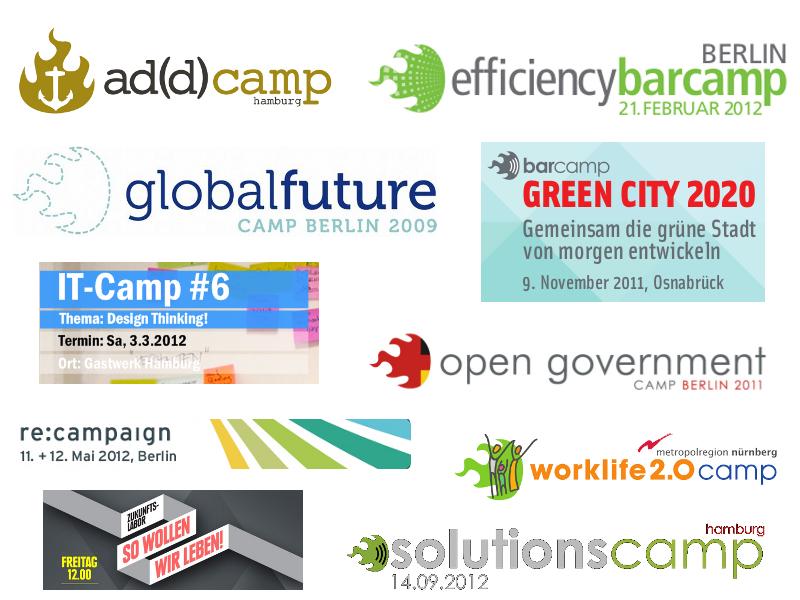 BarCamps die ich organisiert und moderiert habe (Auswahl)